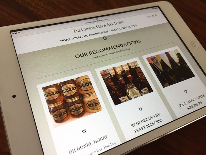 The Cheese, Gin and Ale Barn Website