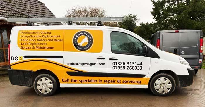 Peninsula UPVC Window and Door Repairs Van Livery