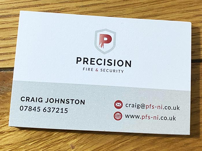 Precision Fire and Security Business Card