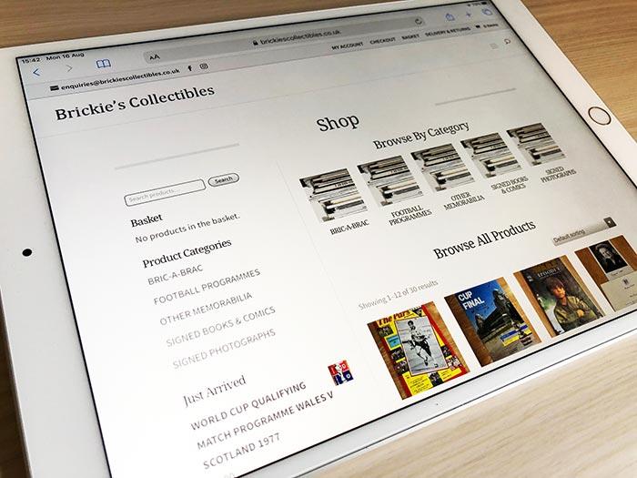 Brickies Collectibles Website