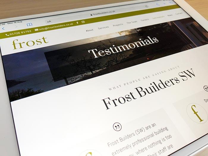 Frost Builders Website